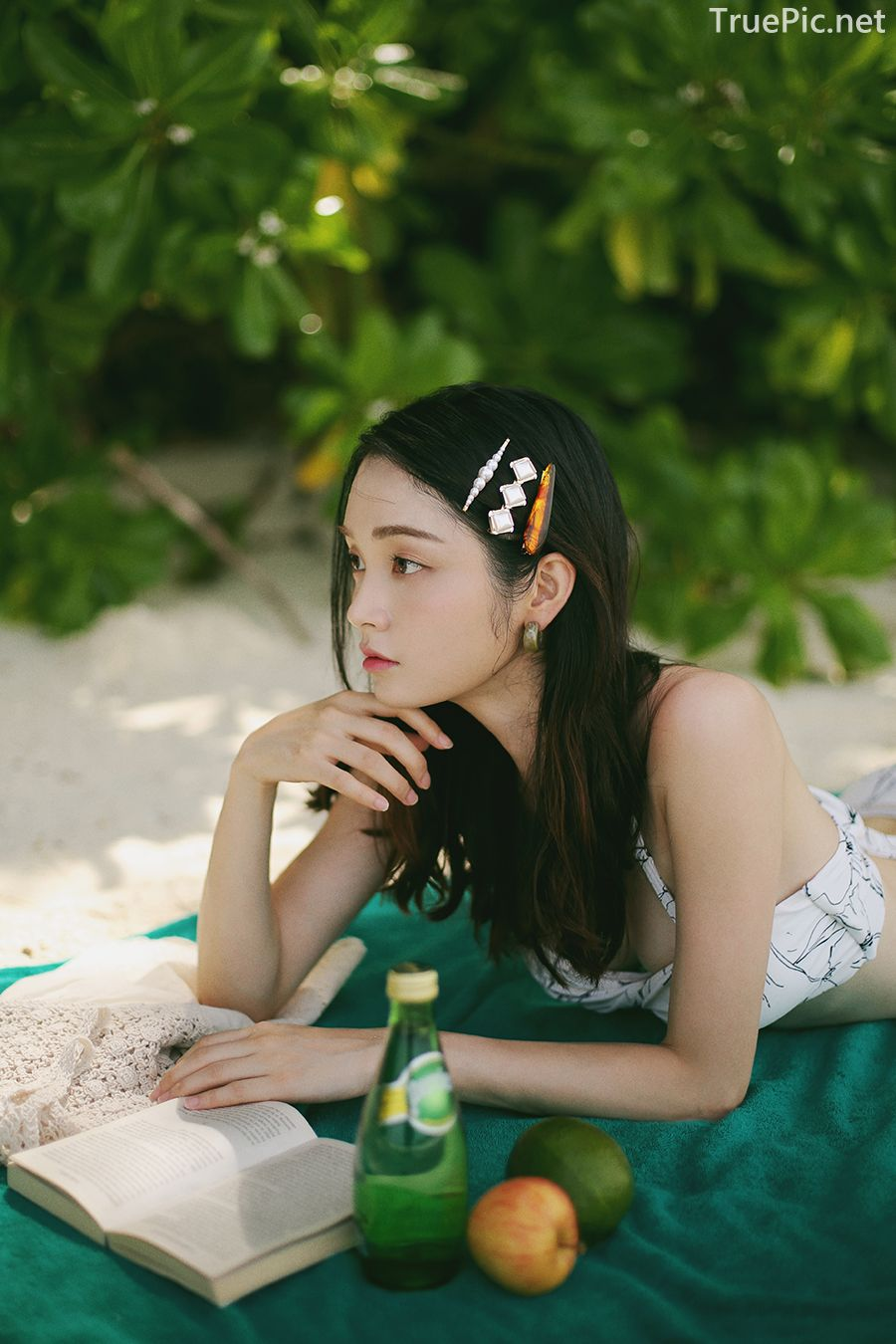 Korean model and fashion - Jeong Hee - The flower in your bikini - Picture 8