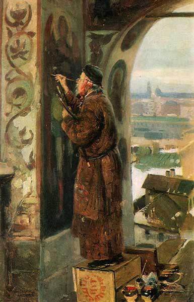 Маковский Владимир Егорович - Иконник. 1891