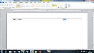 membuat agenda harian kelas di word