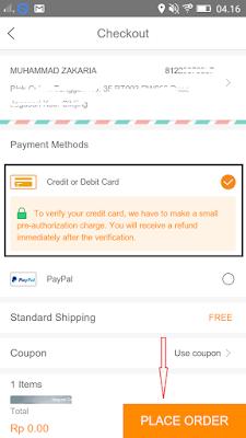belanja online gratis dari aplikasi Vova android