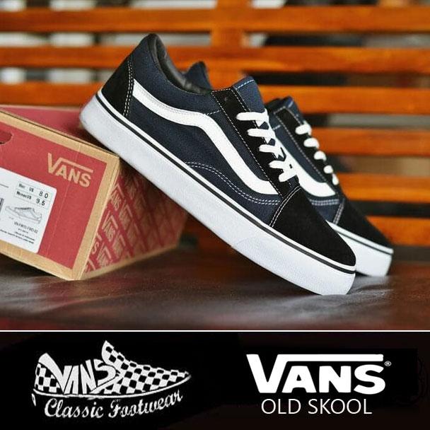 Sepatu Vans Old Skool Premium Hitam Doff  SKO1141   79eb32ba87