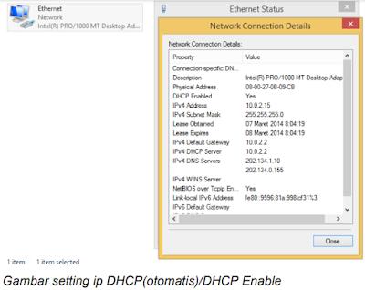 Pengaturan alamat atau IP addresing pada windows 8