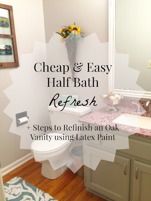 Valspar Tempered Gray: This true gray never changes its color, regardless of what kind of lighting the room has. It's a beautiful, airy color for living rooms, bedrooms, kitchens, bathrooms, and more. Click here to see how it was used in this half bath to take the space from gloomy to cheery.