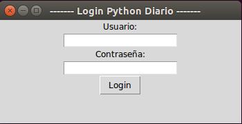 Login con Tkinter y Python