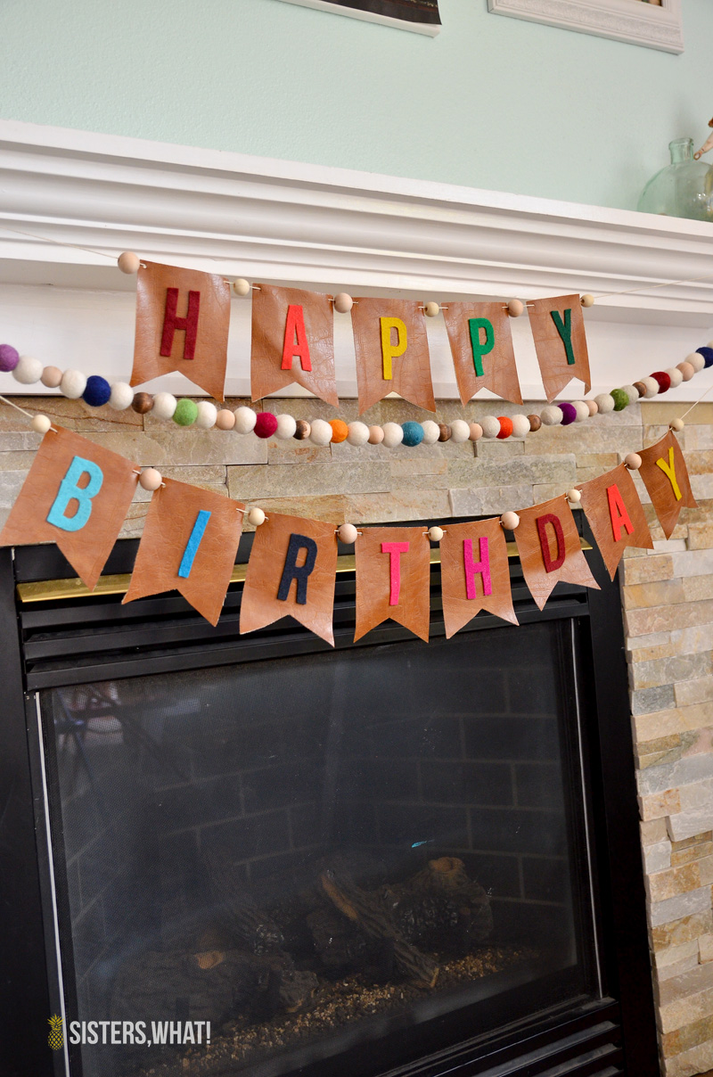 diy felt happy birthday banner