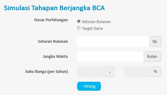 Simulasi Tahapan Berjangka BCA