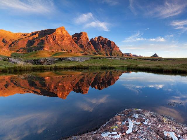 Paesaggio in Lesotho