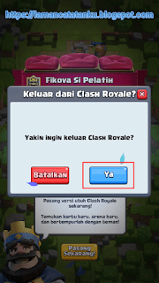 menutup game clash royale