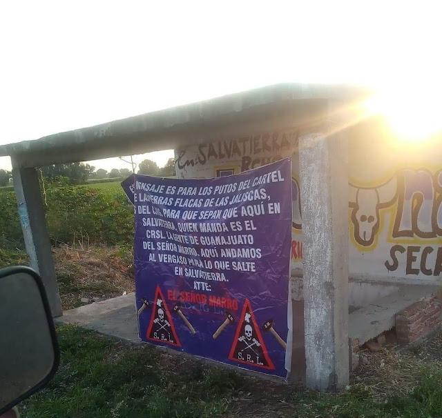 """Con sus Marros en las Narcomantas  y su firma Antonio Yepez """"El Marro"""" se niega a perder Guanajuato y amenaza a las """"Jaliscas"""""""