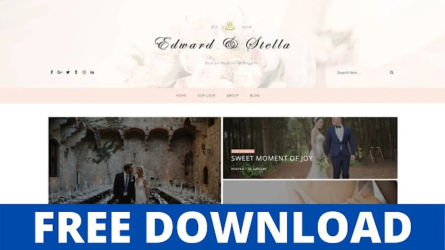 Download Edward & Stella - Clean Responsive Blogger Template Free