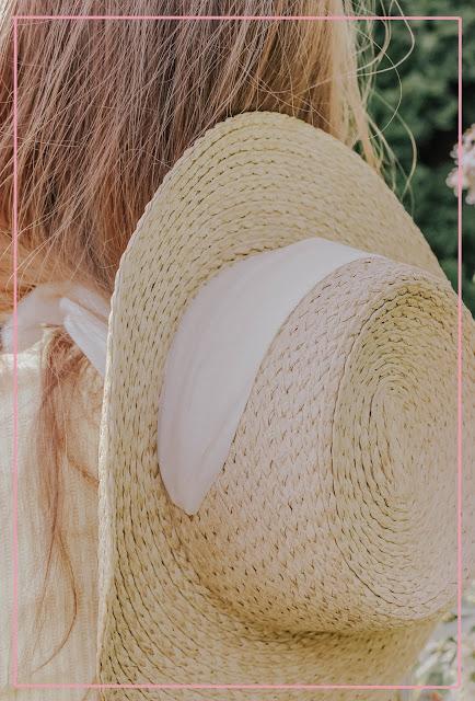H&M sun hat neck tie