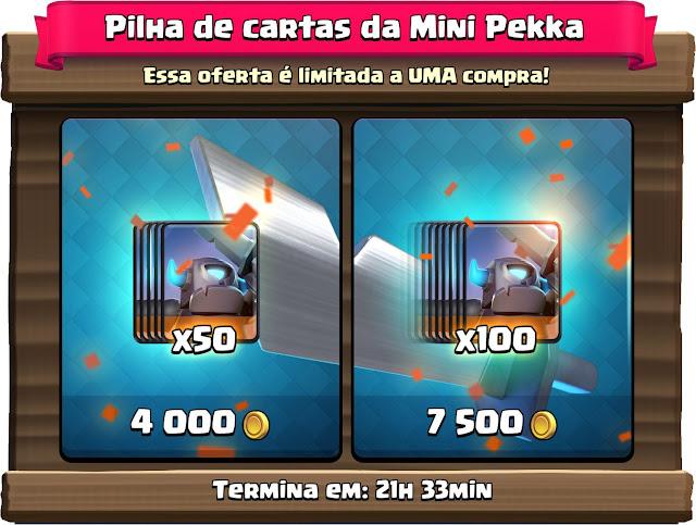 Comprar cartas da Mini PEKKA no Clash Royale