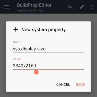 Change display resolution by modifying buildprop file