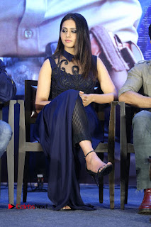 Actress Rakul Preet Singh Stills in Beautiful Blue Long Dress at Dhruva Salute to Audience Event  0076.JPG
