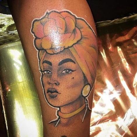 Galeria De Fotos De Tatuagem Em Pele Negra Inspiração Negra