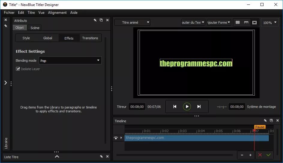 تحميل برنامج NewBlueFX Titler Pro 7 Ultimate 7.2.200609 لإنشاء عناوين ثنائية وثلاثية الأبعاد احترافية