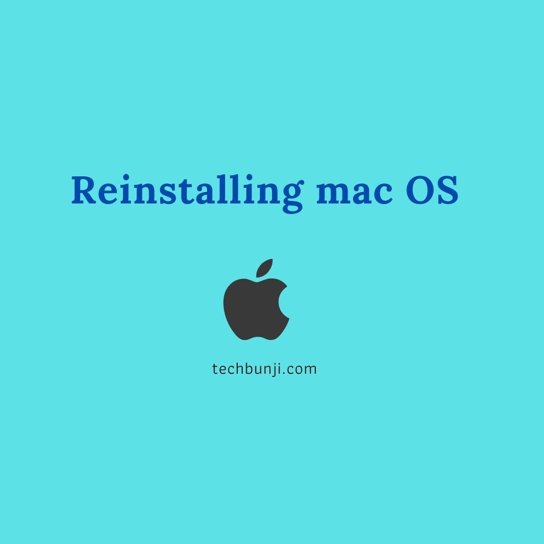 Reinstalling mac OS