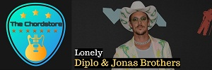 Diplo - LONELY Guitar Chords ( Jonas brothers)