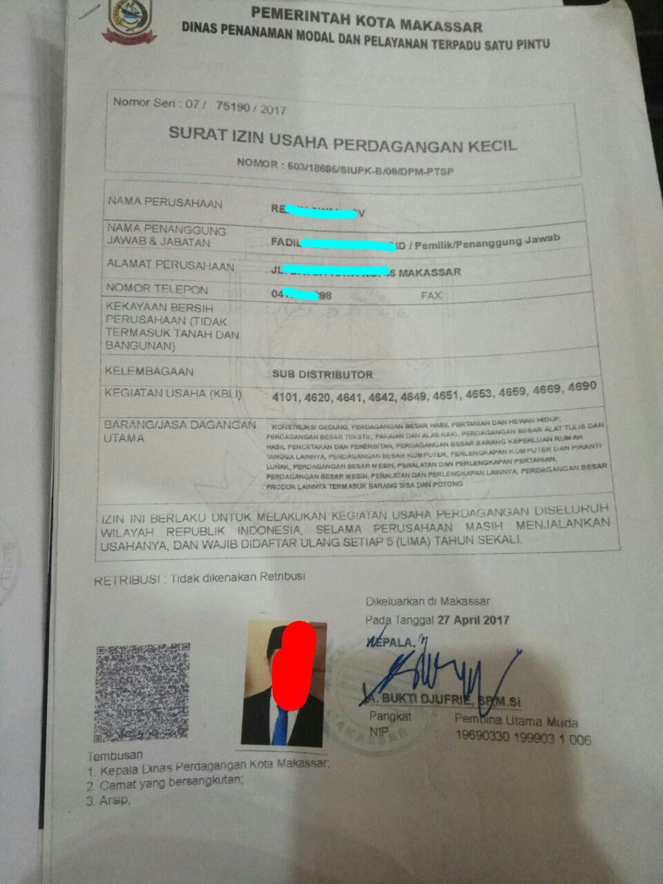 Jasa Pembuatan Legalitas usaha di Makassar