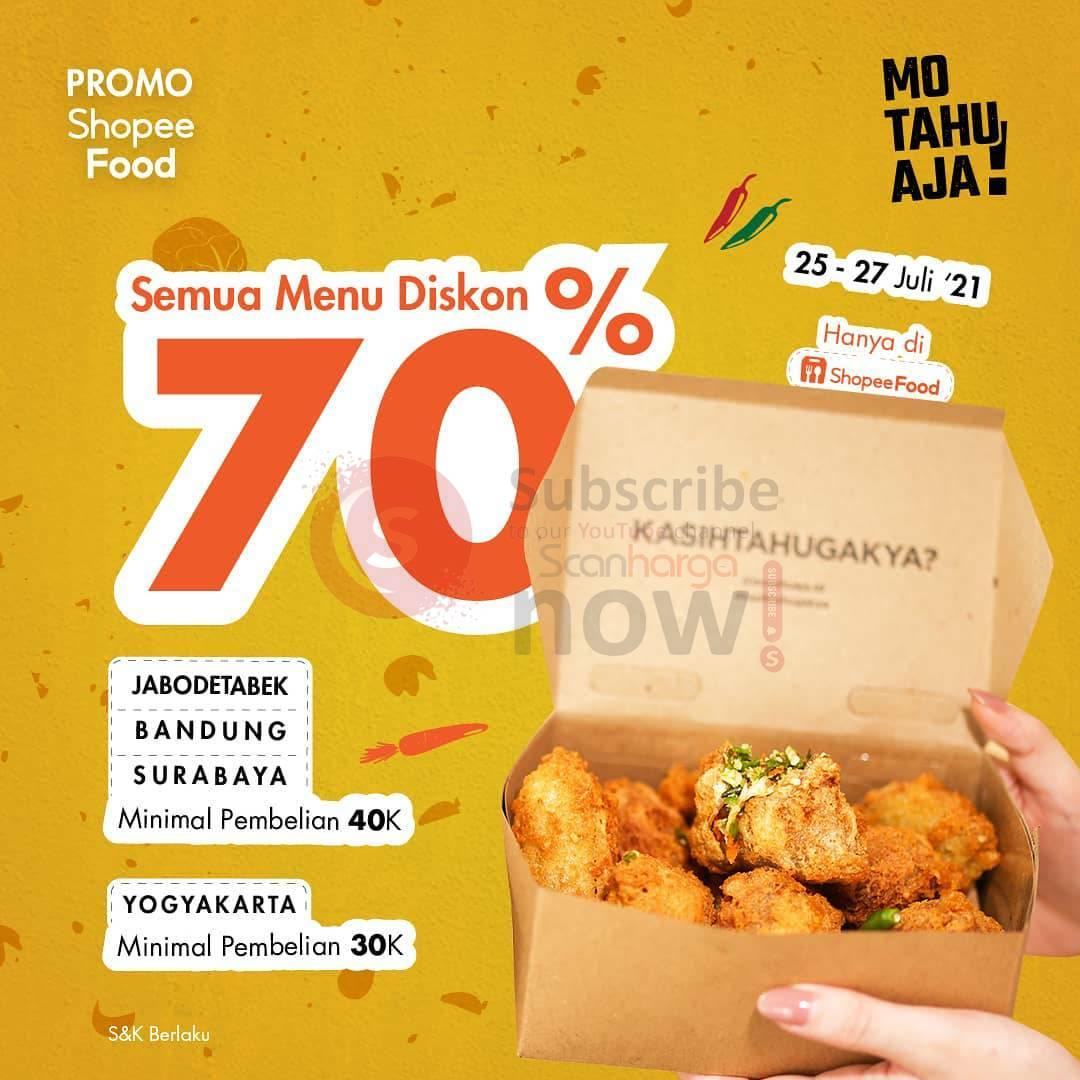 Mo Tahu Aja Promo Diskon hingga 70% Semua Menu via ShopeeFood