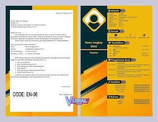Contoh Desain CV Dan Job App Kreatif EN-06