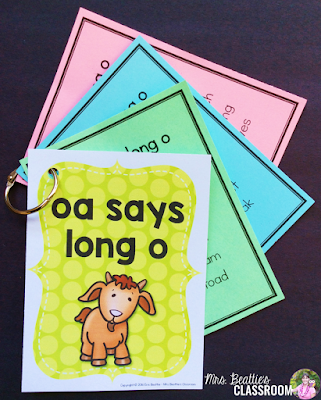 """Photo of Differentiated Word Lists for """"oa says long o"""" list."""