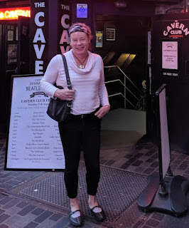 April Alsup at the Cavern Club in Liverpool