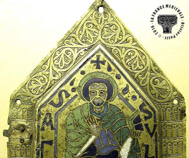 DIJON (21) - Musée des Beaux Arts : Saint-Paul en émail champlevé (1130)