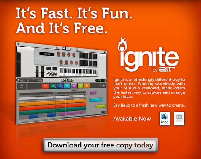 The Trance Garden: M-Audio: Ignite by Air (Free Software)