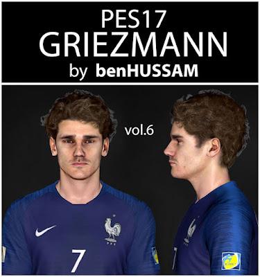 PES 2017 Face Antoine Griezmann by benHUSSAM