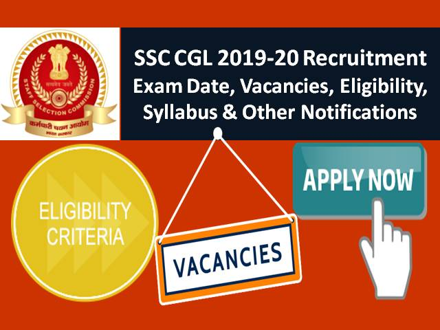 Recruitment SSC CGL Online Apply 2019, Last Date, Important Dates, How to apply