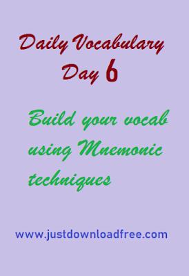 Easy tricks for Vocabulary day 6