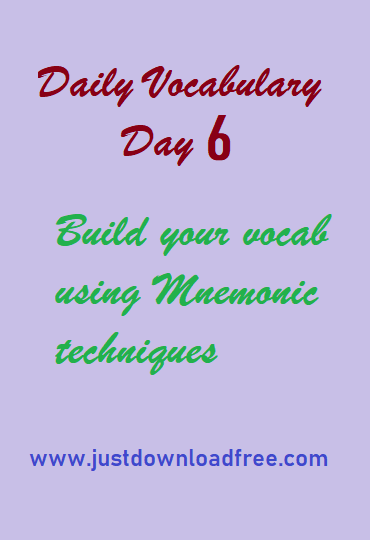 Easy tricks for vocabulary learning with free PDF download (Day 6)