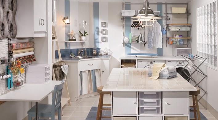 Ideas de decoración de lavanderías - Colores en Casa