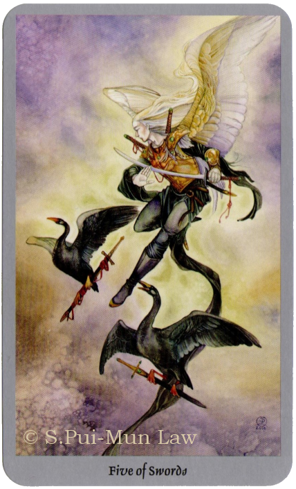 Shadowscapes Tarot  Five of Swords