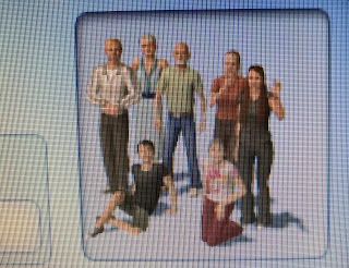 Blurry picture of Sims characters for Nanowrimo 2020