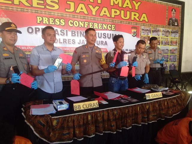 Selama Operasi Bina Kusuma, Jajaran Polres Jayapura Tangkap 19 Tersangka Curanmor
