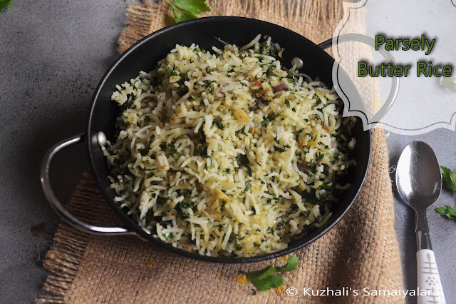 Parsely Butter Rice/Easy Parsely Rice/ How to make quick Parsely rice-Variety rice recipe