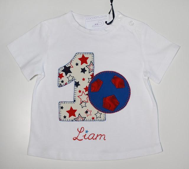 camiseta de cumpleaños fútbol 1 año
