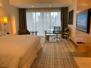 Guest room of Hilton Singapore with King bed