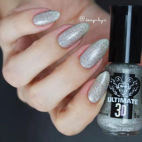 Esmalte cinza com glitter 3d shockwave