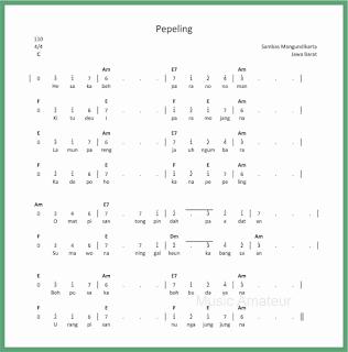 not angka lagu pepeling lagu daerah jawa barat