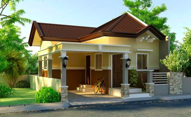 Small and simple house with small living room small for Simple house design inside