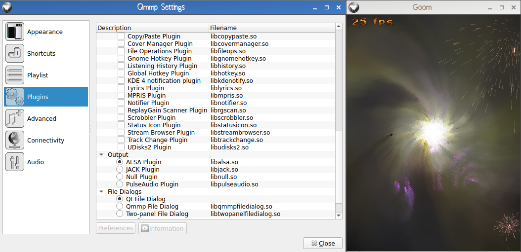 QMMP - Qt Based Multimedia Player in Archlinux