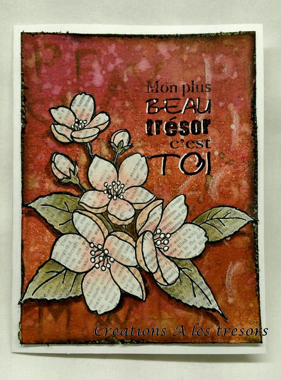 Cr ations a les tr sors mon tr sor avec bouquet fleuri for Bouquet fleuri