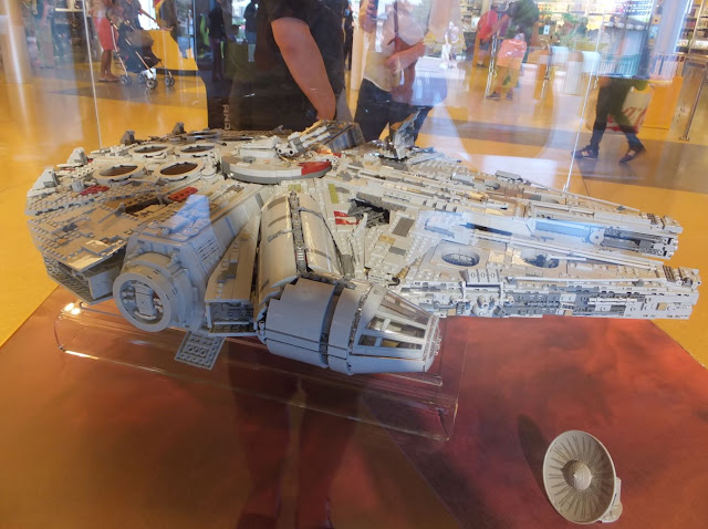 Millenium Falcon Lego at Disney Springs