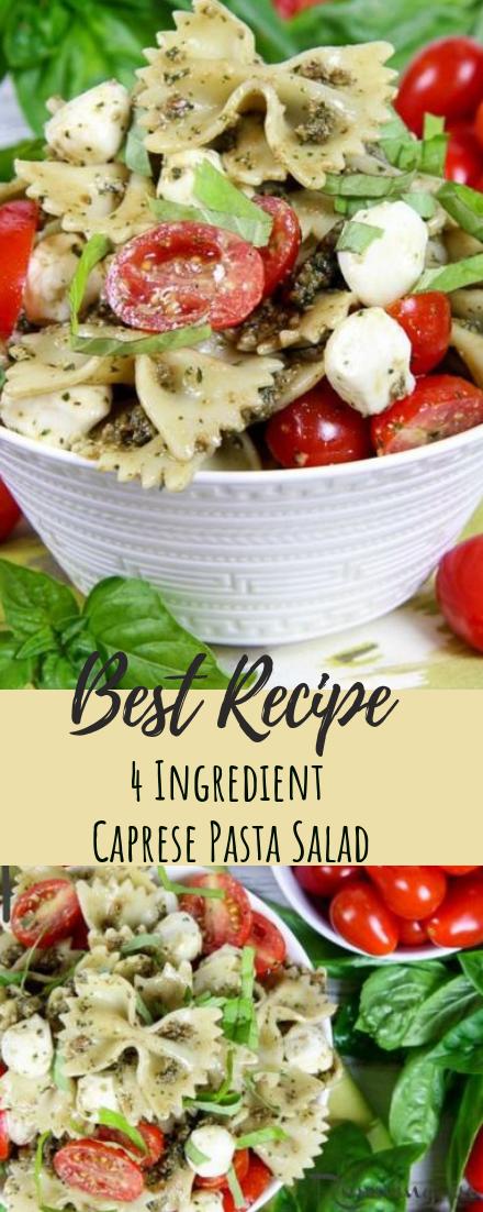 4 Ingredient Caprese Pasta Salad #desserts #cakerecipe