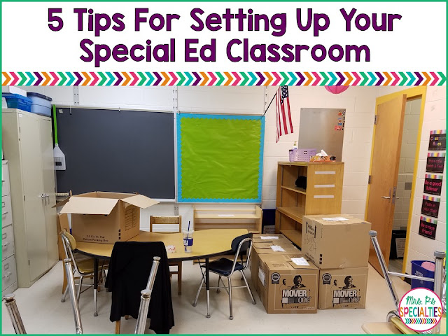 Here are 5 concepts to plan for before you begin to set up your special education classroom. These tips are for self-contained classes, life skills programs, autism classrooms and general special education programs.