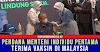 Perdana Menteri Individu Pertama Terima Vaksin COVID-19 Di Malaysia
