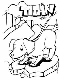 Dibujos para colorear de Frida la perrita heroína y perros rescatistas